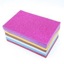 10pcs A4 Colored EVA Dust Sponge Paper DIY Handmade Scrapbooking Craft Flash Foam Glitter Manual Art Materials Supplies