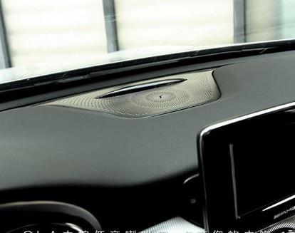 1 pcs dashboard loudspeaker cover middle console speaker frame for Merceds-benz A class/GLA/CLA/GLC/NEW C class accessories