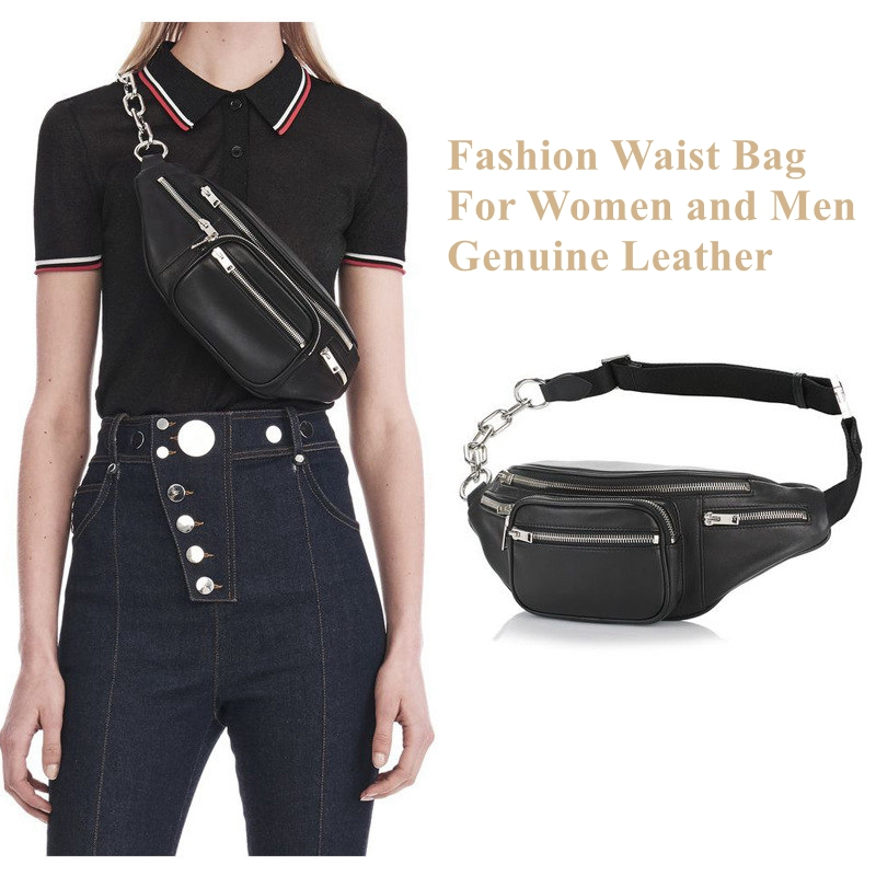 Us 36 48 49 Off Beaumais Genuine Leather Waist Bag Women Pack Funny Belt Men Chain For Phone Df0301 In