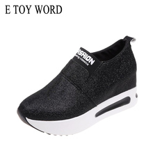 E TOY WORD platform Sneakers Women Shoes Autumn Thick Bottom shoes Slip On Breathable Casual Ladies Womens Flat