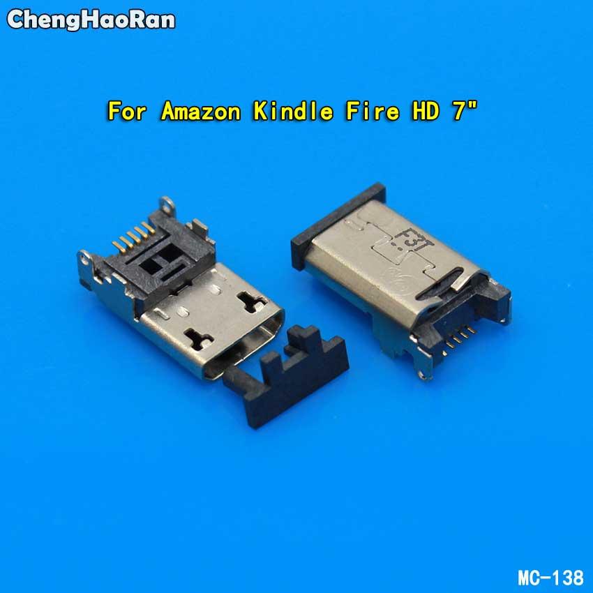 ChengHaoRan Micro Charging Port USB Jack Socket Connector 5pin For Amazon Kindle Fire HD 10 10.1 7 HD7 7 Dock Repair Part