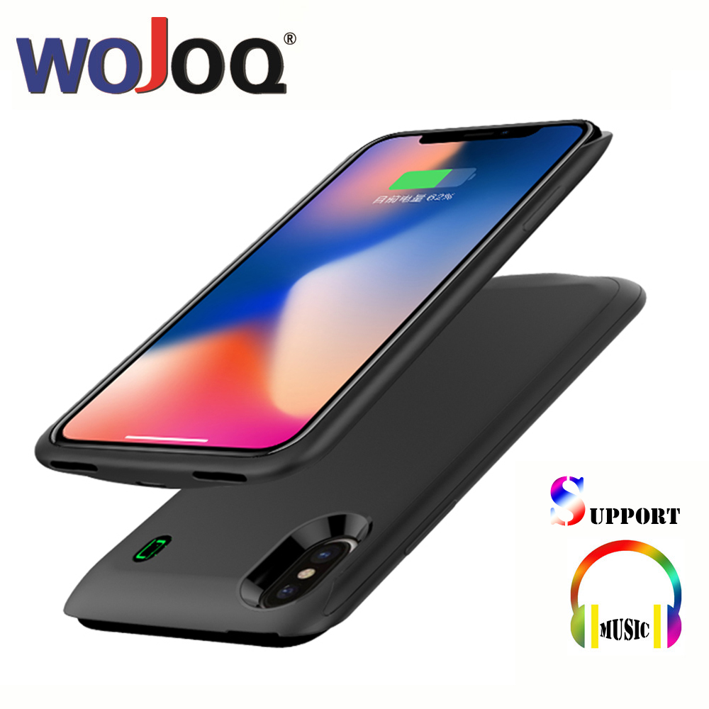 WOJOQ Battery Charger Case For iPhone X Power Bank Charging Case Ultra Thin Powerbank Charger Case for iPhone X