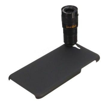9X Zoom óptico telescopio telefoto lente de la cámara del teléfono lente + Back funda para Samsung Galaxy Note 4 5 S7 Edge S8 Plus