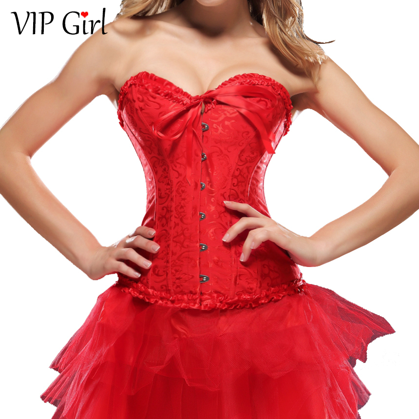 2015 Fashionable Sexy Women Slimming Corset Cheap Bustier Corset Red Black Corset trainer  Body Shaper Top quality Wholesale