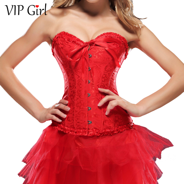 10d00c231 2015 Fashionable Sexy Women Slimming Corset Cheap Bustier Corset Red Black  Corset trainer Body Shaper Top quality Wholesale