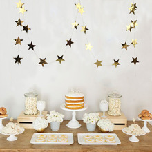 5M Foil Gold Star Garland Little Christmas for Baby Shower Wedding Birthday Party Decor