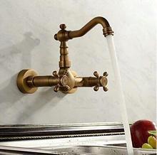 Ванной бассейна кухонной мойки смесителя Поворотный Античная бронза модный стиль Настенные кран AF1043