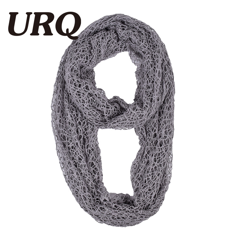 0b928e83b5 [URQ] Women Ring Scarves Handmade Wraps Hollow Out Short Mesh Shawl Cover Up  Lady loop Scarves Wedding Scarf P7A16874-in Scarves from Women's Clothing  ...