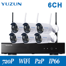 720P  home cctv kit outdoor wireless security camera system  cctv camera with NVR 6 waterproof  camera suit for indoor outdoor