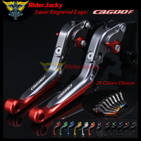 Riderjacky CNC Red+Titanium Motorcycle Folding Extendable Brake Clutch Lever For Honda CB600F / Hornet 2007 2013 2010 2011 2012