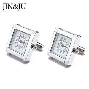 Image 3 - High Quality Functional Watch Cufflinks Square Real Clock Cuff links With Battery Digital Watch Cufflink cuffs Relojes gemelos