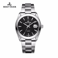 Reef Tiger Dress Mens Watches Analog Automatic Watches 316L Solid Stainless Steel Watch with Big Date RGA835