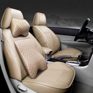 Image 5 - (Przód + tył) specjalna skórzana pokrowce na siedzenia samochodowe Volkswagen vw passat polo golf tiguan jetta touareg akcesoria samochodowe stylizacja
