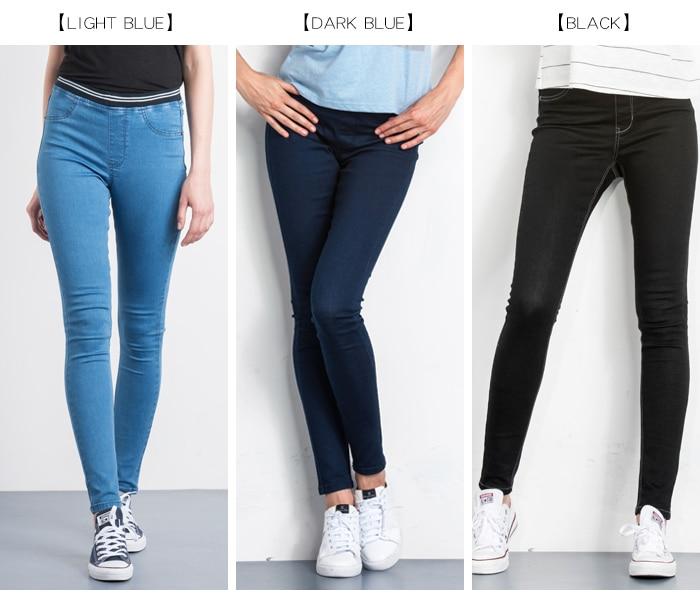 LEIJIJEANS Fashion Autumn Leggings Blue S 6XL Woman Mid Waist Plus Size women High Elastic Full Length Pants Skinny pencil Jeans 6
