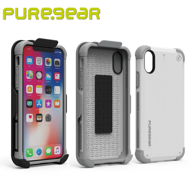 differently 22988 8b2fb US $26.99 40% OFF|PureGear DualTek HIP Durable Protective Shock absorbing  Case for iPhone X with Swivel Clip Kickstand with Package 62070PG-in ...