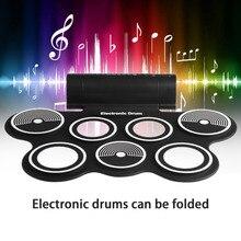 Electronic Drum Digital USB Desktop Portable Roll Up Musical Instrument