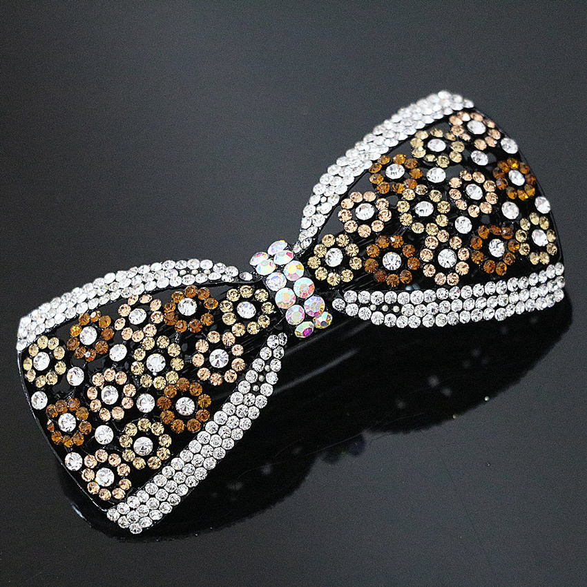 2x Kristall Haarspange Haarspange Strass Schmetterling Haarnadel