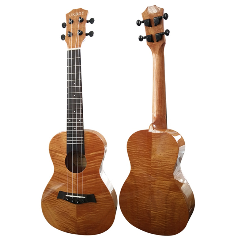 23  Concert Ukulele tiger stripe Mahogany Glossy Ukelele 4 Aquila Nylon strings acoustic guitar professional music instrument