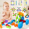 Montessori 3D Puzzle Jigsaw Plastic Building Kits Squigz Sucker Cup Building Model Puzzle Educational Toys For