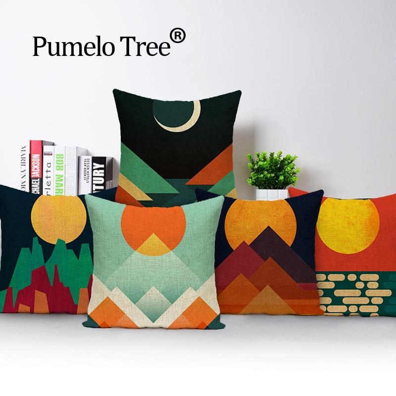 Patchwork long housses de coussin oreiller cas décoration intérieure