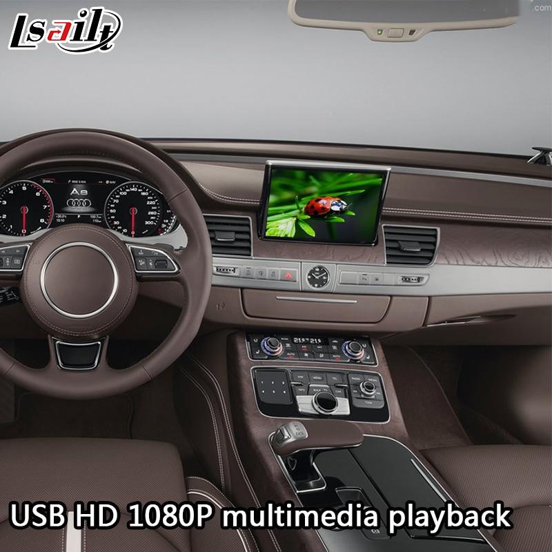 Android 6,0 GPS caja de navegación interfaz de vídeo para AUDI A8 con espejo de teléfono inteligente, aplicaciones - 3