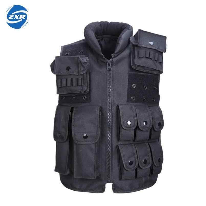 التكتيكية سترة بارد رجل سترة صيد في الهواء الطلق التدريب العسكرية الجيش Swat سترات الرجال صدرية واقية مجلة الحقيبة الأسود