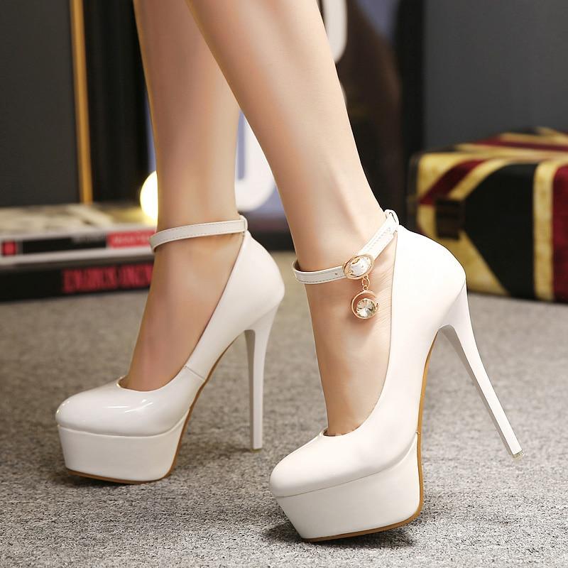 ФОТО Club Temperament Platform Slip On Pu Leather Charms Rhinestone Wedding Cheap Women Dress Shoes Pumps China Super Ultra Nightclub