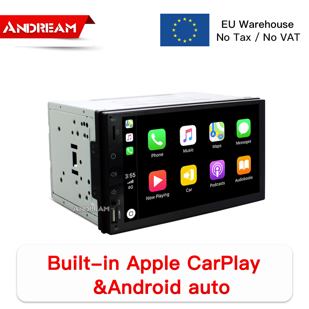 "7"" IPS Screen Built-in CarPlay Car Multimedia Player 2din Universal GPS Navigation Audio Radio unit for Nissan for Hyundai"