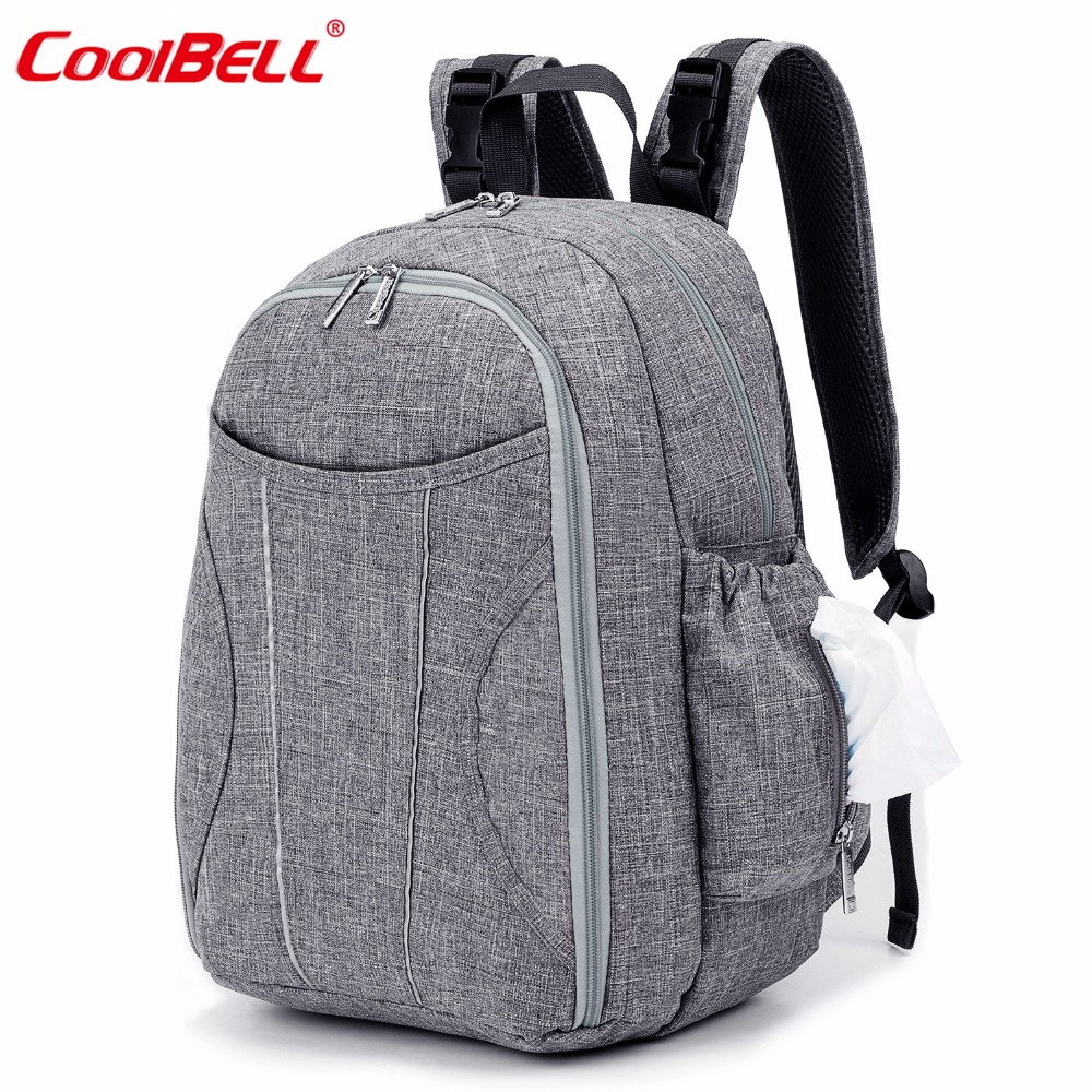 Baby Diaper Bag Backpack Waterproof Large Capacity Nappy Bag With Changing Pad and Insulated Bag High Quality Mummy Bag
