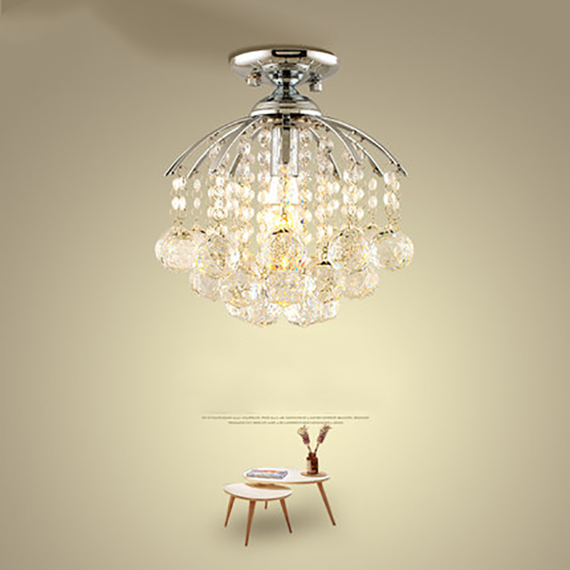 Small crystal chandeliers round bar restaurant aisle lights porch lights corridor entrance hall balcony kitchen lamps