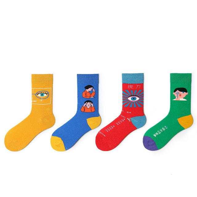 Kawaii Cartoon Patterned Socks