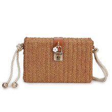 HOT SALE! Fashion Charm Women Messenger Bags Weaving Bag With Deer Toy Shell Shape Shoulder E183