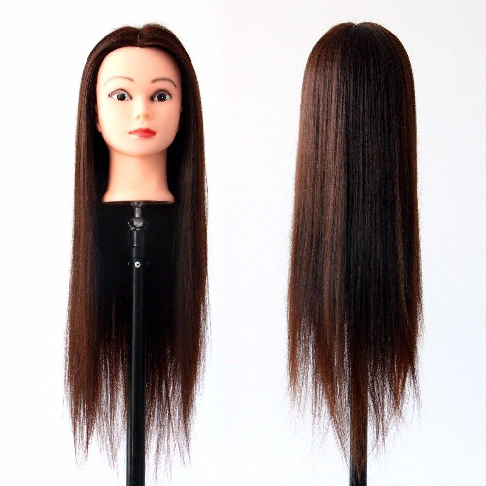 Long Hair Model Hairdressing Practice Training Head Mannequin Manikin Styling Doll Salon