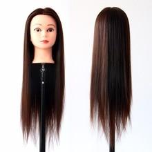 Long Hair Model Hairdressing Practice Training Head Mannequin Manikin Hair Styling Mannequin Doll Salon Model цены онлайн