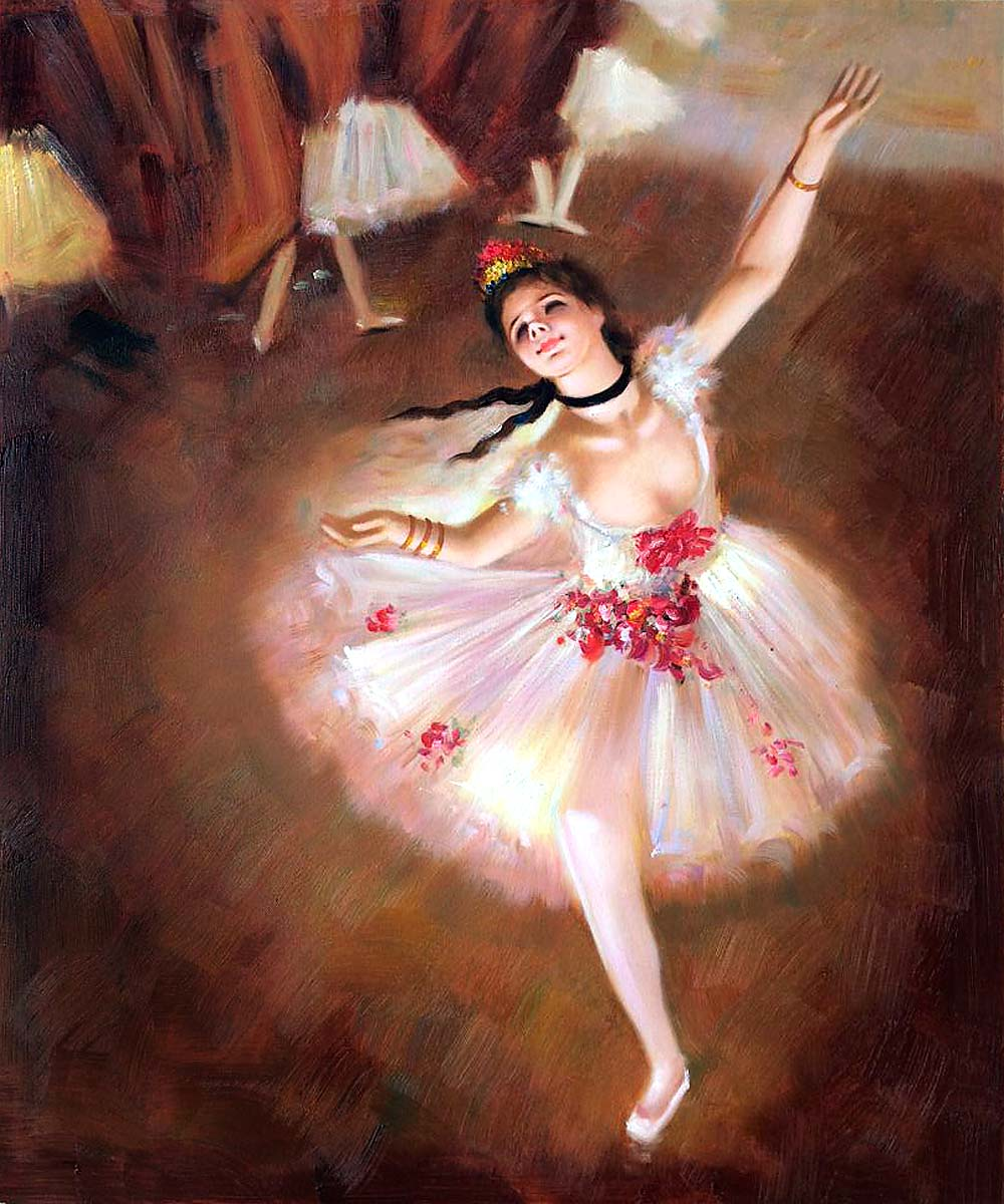 Hand Painted Wall Painting for Home Decor Star Dancer (On ...