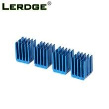 LERDGE step Motor sürücü modülü ısı emici soğutma bloğu soğutucu için A4988 sürücü modülü 3D yazıcı parçaları 4 adet/grup