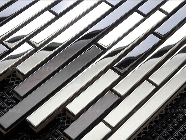 Stainless Steel Metal Cladding : Home decoration metal mosaic tiles stainless steel