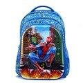 2016 Lindo 5D The Avengers niños bolsas mochila niños mochilas escolares niños Capitán América spiderman mochila mochila escolar