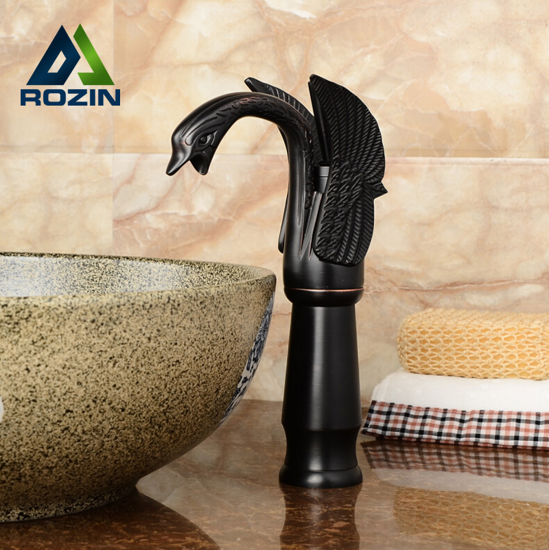 Good Quality Tall Basin Vessel Sink Faucet Deck Mount Single Handle Swan Mixer Tap with Hot Cold Water stirring motor driven single deck chemical reactor 20l glass reaction vessel with water bath 220v 110v with reflux flask