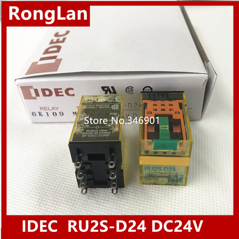 [SA]Japan and the spring IDEC relays with latch lever 10A RU2S-D24 DC24V 2a2b--10pcs/lot r b parker s the devil wins