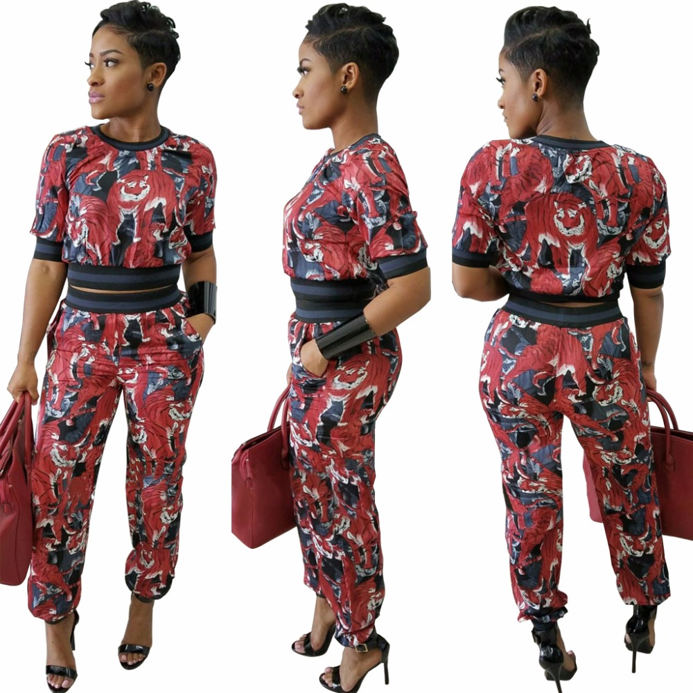 New FASHION Women Sexy 2 Pieces Casual Print Jumpsuits Ladies Winter Style Vestidos Rompers Party Bodysuits Club Playsuits