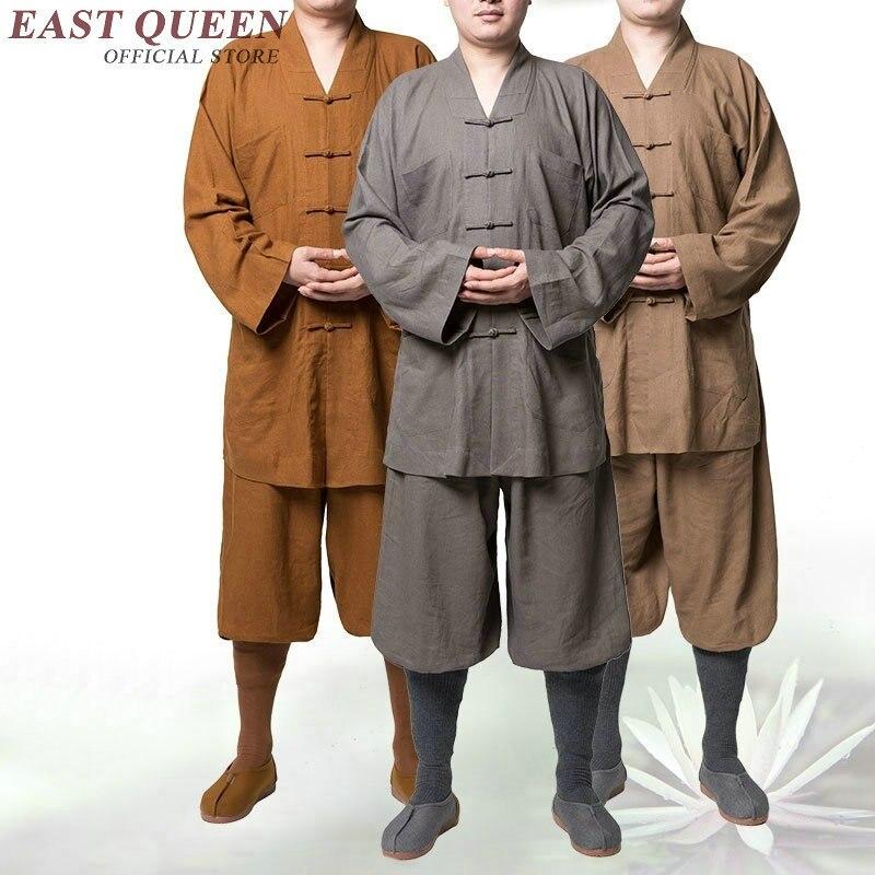 buddhist monk robes men buddhist monk clothing kung fu clothes shaolin monk robes KK811 Y