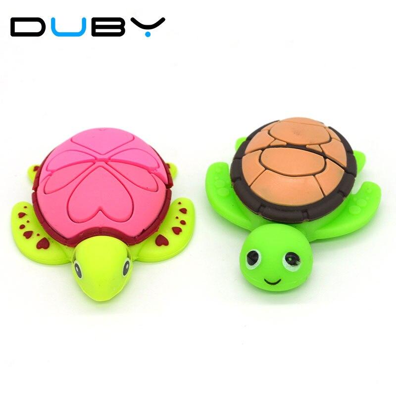 100% Genuine USB Flash Drive cartoon Tortoise Turtle memory stick cool pen drive 8GB pendrive gift