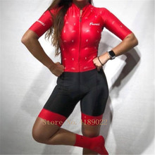 2019 FRENESI pro team triathlon suit summer women short-sleeved cycling skinsuit jumpsuit roupa ciclismo feminina MTB bicicleta