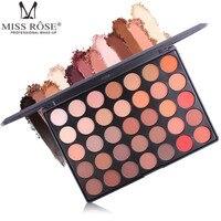 New Nhãn Hiệu MISS ROSE 35 Màu Professional Bền Lâu Waterproof Eye Shadow Set Sắc Đẹp của Phụ Nữ Eye Shadow Palette Tốt Nhất quà tặng