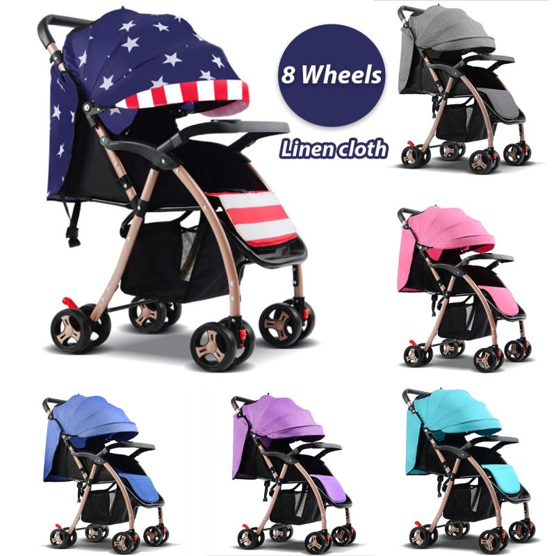Baby Stroller For Newborns Travel System Folding Portable Baby Carriage Can Sit Can Lie