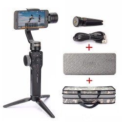 Zhiyun Smooth 4 3-Axis Handheld Gimbal Stabilizer for iPhone X 8 7 Plus 6 Plus Samsung S8+ S8 S7 S6 + EACHSHOT Carrying Case