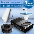 Sanqino 73dBi AGC MGC Repetidor 3G2100 Señal de Doble Banda de GSM900 3G UMTS 2100 MHz + GSM W-CDMA 900 Mhz Señal Del Teléfono Móvil Boosters