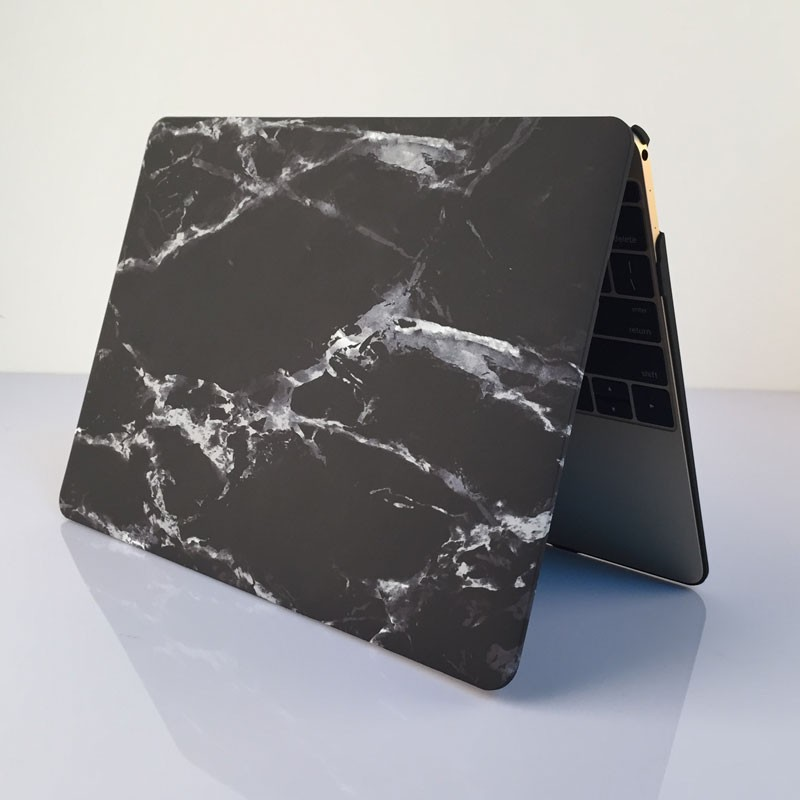 new photos 3a785 bcd84 US $20.74  Black White Marble Grain Hard Cover Case For Macbook Air Pro  Retina 11 12 13 15 Inch Protector For Macbook + Screen Protector-in Laptop  ...