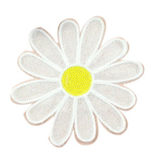 Clothing Women Shirt Top Diy Flower Patch Sunflower Sequins deal with it T-shirt girls Patches for clothes Boy Sticker Badge(China)
